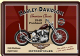 Harley Davidson Panhead metal postcard / mini-sign     (na)